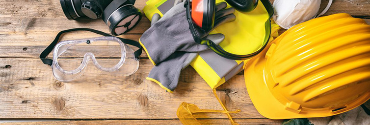 Safety equipment used in Construction