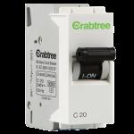 Crabtree's ATHENA 20 A DP Mini MCB C Series 3 kA (Chalk White)