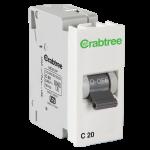 Crabtree's ATHENA 20 A DP Mini MCB C Series 3 kA (Elephant Grey)