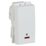 Crabtree's SIGNIA10 A Bell push switch with indicator (Anti-Viral) (White)