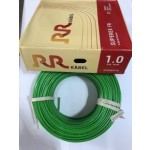 RR Kabel's PVC Insulated Single Core 1.0 Sq mm FR Cable - 200Mtrs