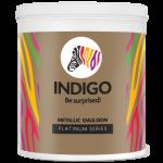 Indigo Paints - Metallic Emulsion - Platinum Series - 1 Ltr