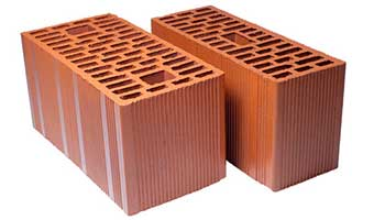 Porotherm bricks are baked at a very high temperature